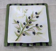 2010 Gare Fest Project - Matte White Olive Branch Plate