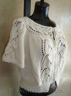 #99 Flutter-Sleeved Blousy Lace Cardigan PDF Knitting Pattern #knitting #SweaterBabe.com