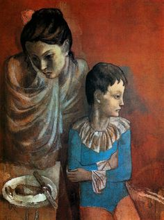 [Clio+Team]++1905++Pablo+Picasso,+Mère+et+enfants,+baladins,+Mother+and+children,+wandering+entertainers++Gouache+sur+toile++90x71+cm.…