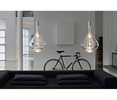 The Studio Italia Design Sky Fall LED Pendant is a sumptuous display of hand-blown Murano glass with direct and indirect light. Luminaire Ikea, Luminaire Suspension Design, Luminaire Design, Led Pendant Lights, Pendant Lamp, Pendant Lighting, Salon Lighting, Lighting Ideas, Contemporary Pendant Lights