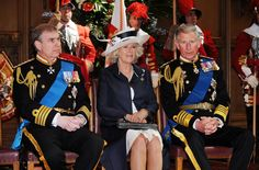Prince Andrew,Camilla Parker Bowles and Prince Charles - Naval Thanksgiving At St Paul's Cathedral 2009