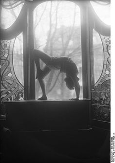 Laban Dance School Berlin 1929  I chose this picture because it shows a dancers flexibility. This was taken at a dance school in the 1920s.