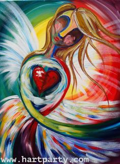 Angel Heart By Cinnamon Cooney The Art Sherpa as a Fully guided art lesson for…