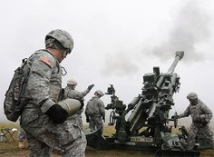 Soldiers from Battery B, FIRES Squadron, 2nd Cavalry Regiment during a M777 Howitzer live fire exercise on the Grafenwoehr Training Area. Image courtesy: US Army. - Image - Army Technology