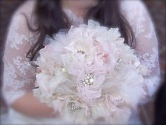 Vintage Rhinestone and lace bouquet