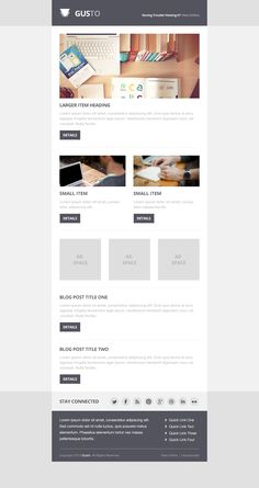 Gusto - Free Newsletter PSD Template