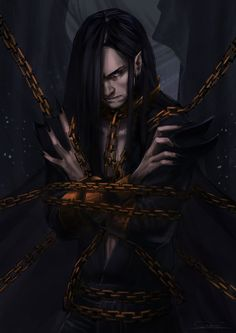 Melkor Chained in the Halls of Mandos by toherrys on @DeviantArt