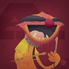 Awesome project by David Vordtriede. Muppabet, a muppet for each letter of the alphabet. Great illustration.