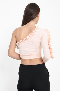 Frill crop top in Nude😍 ❌Blogger Favourite❌ £15 Jadoreyou.com More colours available ➡ . #shop #fashion #slay #model #pastel #pink