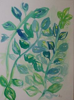"""""""Vines"""", Watercolor on Paper, 9"""" x 12"""", 2001"""
