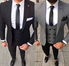 Ideas wedding suits men black style gray for 2019 Indian Men Fashion, Mens Fashion Suits, Wedding Dress Men, Wedding Suits, Wedding Groom, Black And Grey Suit, Black Pants, Gray, Best Suits For Men