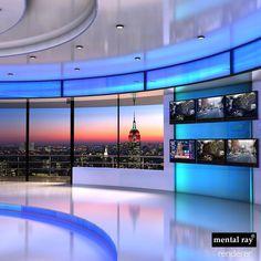 news studios collections max Tv Set Design, Stage Set Design, Stand Design, Label Design, 3d Studio, News Studio, Photo Studio, Chroma Key, Plateau Tv