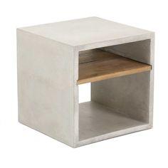 Vega Concrete Cube (with Shelf) - Accessories - Furniture Maison... - 1