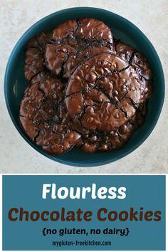Flourless Chocolate Mudslide Cookies {gluten-free, dairy-free}