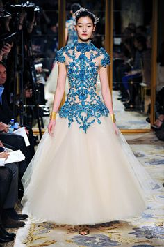 love the lace overlay - would be stunning for a fairy without the skirt  Marchesa, F/W 2012