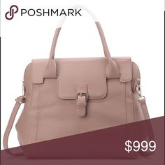 "👛 Pink Haley Taupe Satchel Gleaming hardware accents this supple satchel with subtle shine. The detachable shoulder strap is adjustable for customized comfort and interior pockets.  Details:  - Dual top handles  - Detachable adjustable shoulder strap  - Snap closure  - Exterior features zip pocket  - Interior features zip pocket and 2 slip pockets  - Approx. 13"" H x 13"" W x 6.5"" D - Approx. 6"" handle drop, 24"" strap drop  - Materials: PU exterior, fabric lining.  🎉Reasonable offers are…"