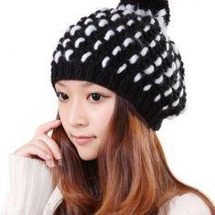 $5.79 Fashion Little Ball Embellished Pinapple Shaped Knitted Bomber Hat For Women