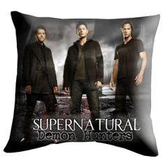 Dean Sam Castiel Supernatural Pillow Cover Pillow by golekciksek, $14.00