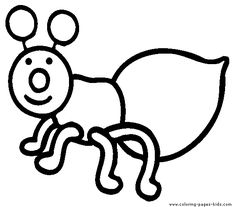 Bug Ant Coloring Pages | Kids Coloring Pages | Pinterest | Coloring ...