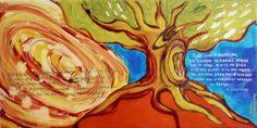 """Τίτλος έργου: «Ποτέ μην αναγνωρίσεις τα σύνορα του ανθρώπου! Ποιος είναι ο σκοπός σου; Να μάχεσαι να πιαστείς στέρεα από το κλαρί….» 60x30cm, λάδι σε καμβά, (τετράπτυχο). 2. Project Title: """"Never recognize the borders of man! What is your purpose? To fight to get caught firmly on the branch .... """" 60x30cm, oil on canvas, (Tetraptych)."""