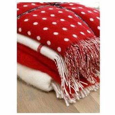Snuggle up with cosy Foxford Blankets. This red spot blanket is great for Christmas or Valentine's Day and Made in Mayo. Winter Beauty, Snuggles, Cosy, Home Accessories, Bean Bag Chair, Christmas, Holiday, Blankets, How To Make