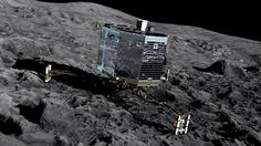 European robot probe Philae has made the first, historic landing on a comet, after descending from its mothership.