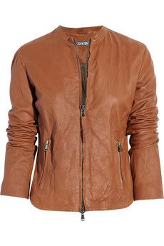 Tan Leather Jacket by Lot78