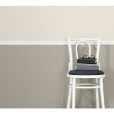 Shop allen + roth White Strippable Non-Woven Paper Prepasted Paintable Wallpaper at Lowes.com