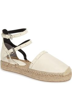 Rebecca Minkoff Gina Strappy Studded Espadrille (Women) available at #Nordstrom