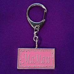 MaMaw Keyclip or Keychain for the Special by AnnPedenJewelry