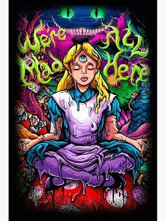 Alice In Wonderland Canvas Print by Violet Girl