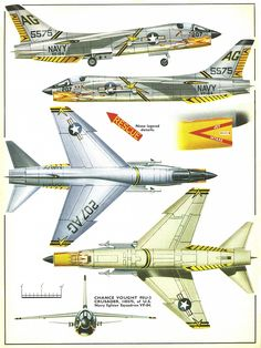 F8 Crusader.  This was replaced in Marine gun squadrons with the F-4 Phantom.