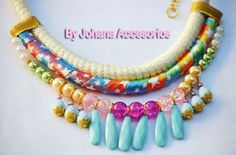Collar rainbow diseño facebook.com/byjohanaaccesorios