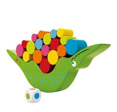 Crocodile Balancing Toy Colorful Wood Toy Early Development