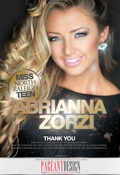Pageant ad designed for Abrianna Zorzi, MISS NORTH RALEIGH TEEN USA | Delegates, get in touch if you need a great-looking, professionally-designed ad! | We offer graphic design solutions for all your pageantry needs! Pageant Ads | Pageant Program Books | Websites | Flyers & Promo Items + more! | For samples, check out: http://www.pageantdesignsolutions.com/ and like us on facebook: https://www.facebook.com/pageantdesign • ALL STATES, ALL AGES, ALL PAGEANTS SYSTEMS WELCOME!