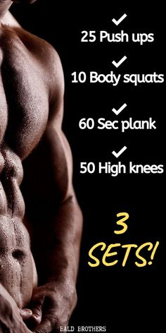 3 Of the best morning workouts that anyone can do. These morning workouts are perfect for men who don't have time for the gym. Hiit Workouts For Men, Home Workout Men, Workout Plan For Men, Gym Workout Tips, At Home Workouts, Workout Plans, Song Workouts, Cheer Workouts, Men Exercise