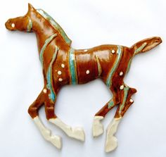 Sculpture-Animals-Michelle MacKenzie: Wall Horse 11