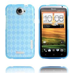 Tuxedo (Light Blue Transparent) HTC One X Cover