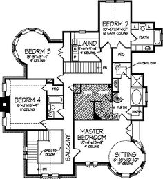 images about Floor Plans on Pinterest   Victorian House    Five Bedroom Queen Anne  HWBDO     Queen Anne House Plan from BuilderHousePlans com