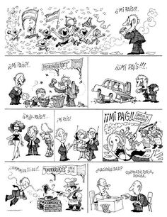 Mi país. Bd Comics, Miguel Angel, Humor Grafico, Political Cartoons, Comic Art, Illustrators, Geek Stuff, 1, Politics