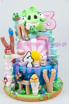 Tort Angry Birds tort dla chłopaka, tort angry birds, torty dla chłopców http://rogwojskiego.pl