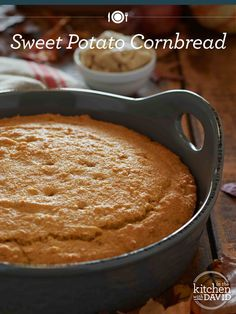 Sweet Potato Cornbread with Spiced Honey Butter - the perfect fall recipe!