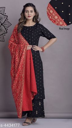 Dupatta Sets Women Rayon A-line Printed Long Kurti With Palazzos And Dupatta Fabric: Kurti -Rayon Skirt - Rayon  Dupatta - Rayon  Sleeves: Sleeves Are Included Size: Kurti - S - 36 in M - 38 in L - 40 in XL - 42 in XXL - 44 in Skirt - S - 28 in M - 30 in L - 32 in XL - 34 in XXL - 36 in  Dupatta - 2.15 Mtr  Length: Kurti - Up To 46 in Skirt - Up To 40 in Type: Stitched Description: It Has 1 Piece Of Kurti With 1 Piece Of Skirt And 1 Piece Of Dupatta Work: Zari Work Country of Origin: India Sizes Available: S, M, L, XL, XXL, XXXL   Catalog Rating: ★4.2 (1248)  Catalog Name: Women Rayon A-line Printed Long Kurti With Palazzos And Dupatta CatalogID_638698 C74-SC1853 Code: 107-4434177-9681