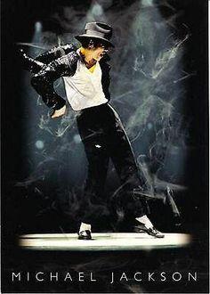 Michael Jackson Dancing In A Spotlight Postcard - http://www.michael-jackson-memorabilia.com/?p=8170
