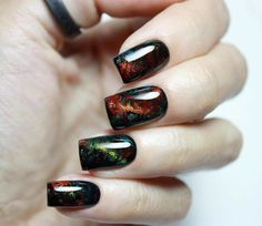 http://www.revelist.com/nails/cat-eye-nail-art/11994/ You can also create the cat-eye design with a cool print. #nailart