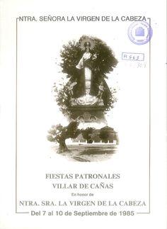 Fiestas patronales en Villar de Cañas (Cuenca), en honor de la Virgen de la Cabeza. Del 7 al 10 de septiembre de 1985.  #Fiestaspopulares #VillardeCañas #Cuenca