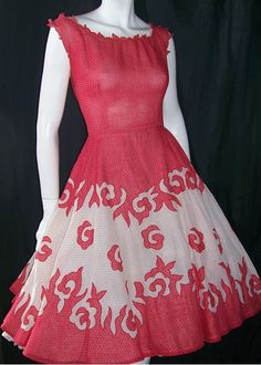 red 50's dress