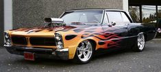 triangulated 4 bar kits on 1965 Pontiac LeMans Pro Touring RonSusser . Custom Muscle Cars, Best Muscle Cars, American Muscle Cars, Custom Cars, Pontiac Gto, Gta, Hot Wheels, Convertible, Sweet Cars