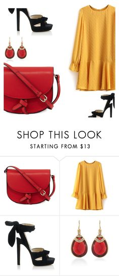 """""""Untitled #1143"""" by crinahs ❤ liked on Polyvore featuring KC Jagger, Jimmy Choo and Carolee"""