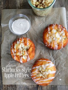Get this tested recipe for gluten free apple fritters—just like the ones at Starbucks, but gluten free!